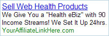 Sell Web Health Products